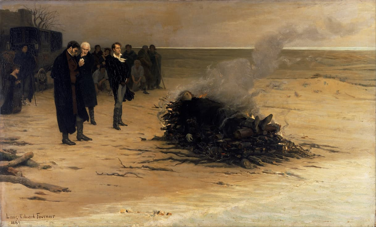The Funeral of Shelley, 1869