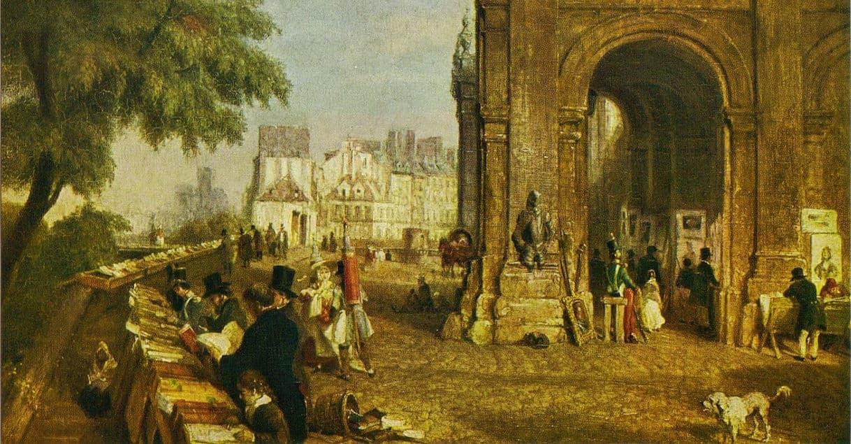 Le quai de Conti sous Louis-Philippe